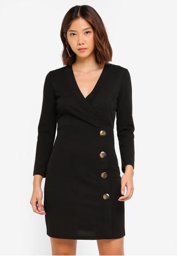 JACQUELINE DE YONG black Lissa 7/8 Dress C94DCAA362DBA7GS_1