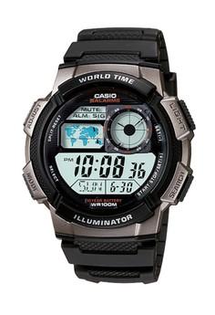 harga Casio - Jam Tangan Pria - Black Rubber Strap - AE-1000-W-1BVDF Zalora.co.id