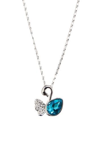 閃鑽寶石天鵝吊墜項鍊,esprit outlet 香港 韓系時尚, 梳妝