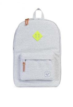 Herschel grey Heritage Backpack HE958AC0K9Y9PH 1 598ea2345d97c