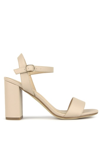 Betts beige Karly Block Heel Sandals 8A24BSHCA2E9FFGS_1