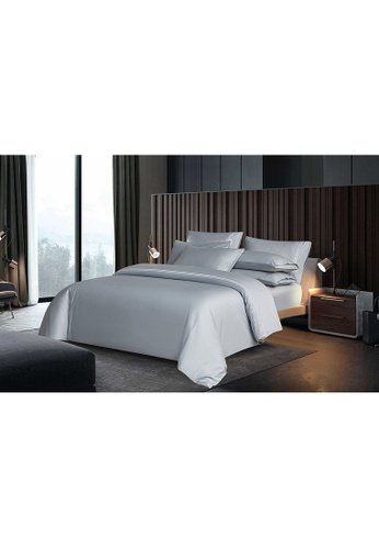 Canopy silver Canopy Luxe Elegant 100% USA Cotton Fitted Sheet Set F7C88HL584BF2DGS_1