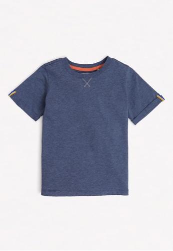 Gingersnaps blue Boys Fold-Up Sleeves T-Shirt 58205KAC39FBB3GS_1