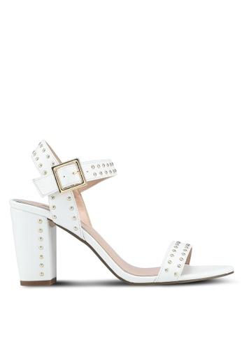 Miss KG white White Mid Heel Sandals E55E0SH16F33E0GS_1