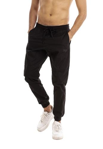 RYZ black RYZ Slim Fit Black Woven Joggers 2.0. 8C17DAA0947699GS_1