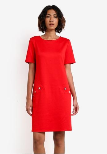 Wallis red Red Ponte Shift Dress WA800AA0RXAMMY_1