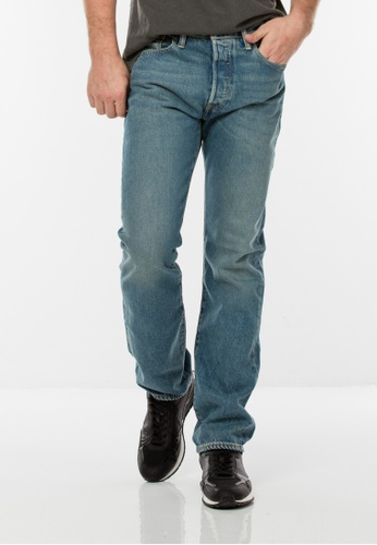 Levi's blue 501® Original Fit Performance Strong Jeans LE843AA0GFYBSG_1