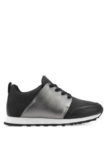 ZALORA black Pu Wrap Lace Up Sneakers 311A3SHFF5EA3AGS_1