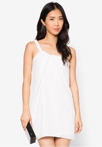 Preen & Proper white One Shoulder Mini Dress PR124AA13IECSG_1