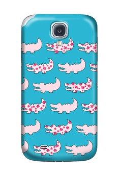 Gator Pink and Blue Hard Case for Samsung Galaxy S4