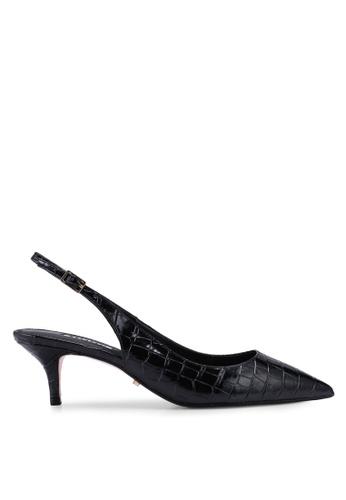 Dune London black Casandra Sling Back Kitten Court Heels EB2C0SHACB0654GS_1
