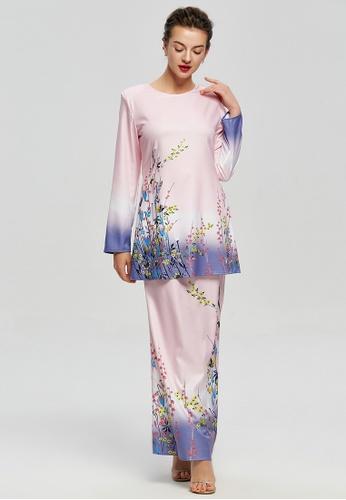 Era Maya pink and purple Joy of Spring Floral Baju Kurung Modern 0D4A4AA1781524GS_1