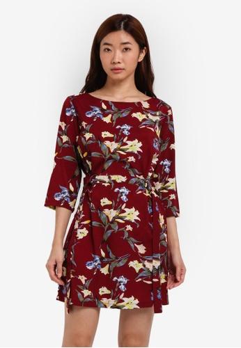 ZALORA red and multi Shift D Ring Dress 5F445ZZEA43644GS_1
