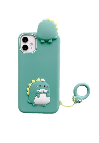 Kings Collection green Cartoon Dinosaur iPhone 12 Pro Case B7FB0ACDC257B4GS_1