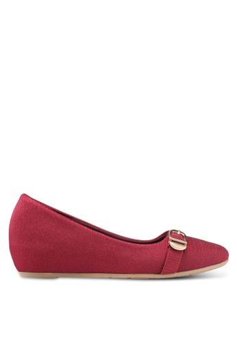 Spiffy red Fashion Formal Series Ladies Flats 746A8SH9ABD1A0GS_1