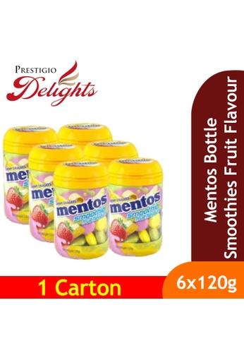 Prestigio Delights black Mentos Bottle Smoothies Fruit Flavours 120g x 6s C16FBES591AEDFGS_1
