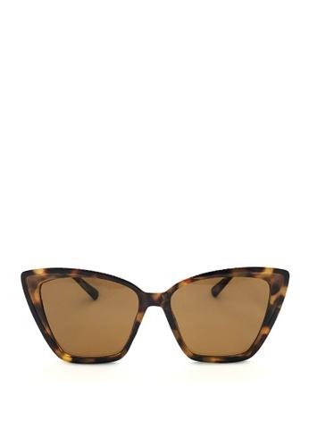 Kaca-kaca brown Kaca Kaca Calix Tortoise Sunglasses 6D9F3GL124BA26GS_1