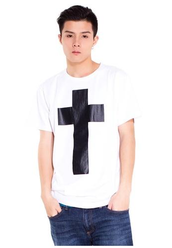 Reoparudo white RPD G-Dragon Style Cross Print Tee (White) RE413AA0FKVHSG_1