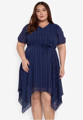 8db260c007b5 Shop Divina Plus Size Stripes Dress Online on ZALORA Philippines