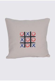 Tic-Tac-Toe Print B Throw Pillow Case