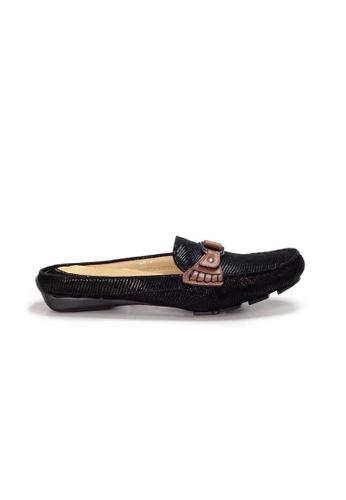 Shu Talk 黑色 AMAZTEP 雙色真皮舒服樂福鞋(適合腳型偏窄) 47C0DSHB66B430GS_1