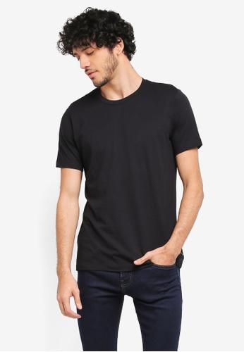 MANGO Man black Essential Cotton T-Shirt MA449AA0T1ETMY_1