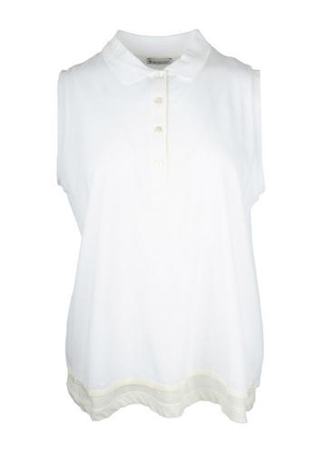 Moncler white Moncler layered Sleeveless Top in White 64E16AA61EC8E4GS_1