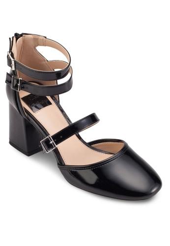 Giovanni 扣環多帶粗跟方頭高跟鞋, 女鞋,esprit台灣官網 鞋
