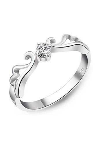 Elfi silver Elfi 925 Genuine Silver 1.0ct Engagement Ring P9. The Fairy of Love EL186AC36DGLMY_1