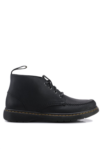 Dr. Martens black Holt 4 Eye Boots 0025BSHF628970GS_1