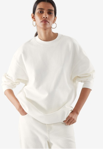 COS white Relaxed Sweatshirt FCD17AA0866329GS_1
