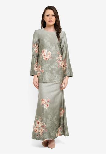 Butik Sireh Pinang grey Amirah Short Tencel Rayon Modern Kurung BU003AA0S270MY_1