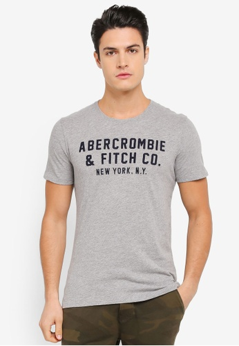 Abercrombie & Fitch grey Branded T-Shirt AB423AA0SUZOMY_1