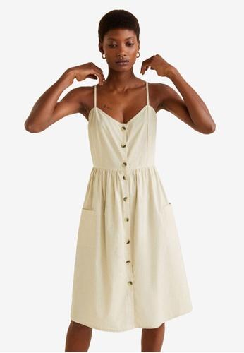 8f7da7055e14 Shop Mango Buttoned Dress Online on ZALORA Philippines