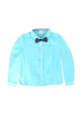 LC Waikiki blue Baby Boy?s Poplin Shirt and Bowtie E4AAAKAE922456GS_1