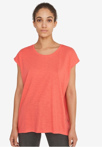 Noisy May orange Mathilde Short Sleeve Loose Long Top F3597AA5497724GS_1