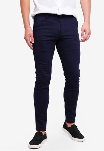 High Cultured 藍色 Long Pants-121 4A248AA9672EA3GS_1