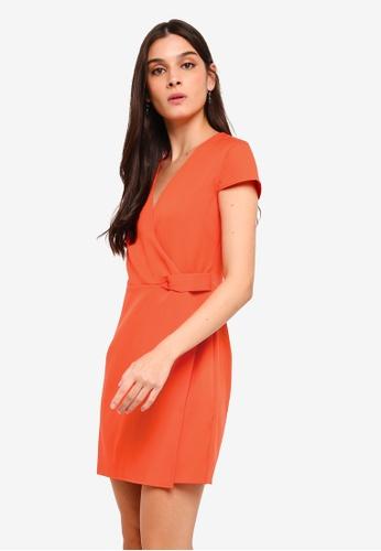 ZALORA orange Twist Detail Semi Formal Dress 1A97CAA55EFB15GS_1