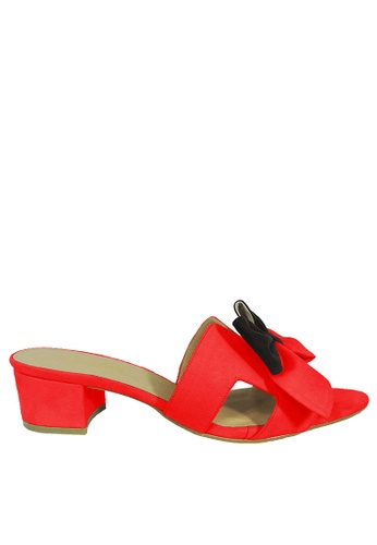 Jacque red Azura Red Low Heel JA262SH94WMZMY_1