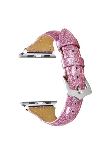 Kings Collection pink Pink Genuine Leather Apple Watch Band 38MM / 40MM (KCWATCH1049) 17142ACE0AB44FGS_1