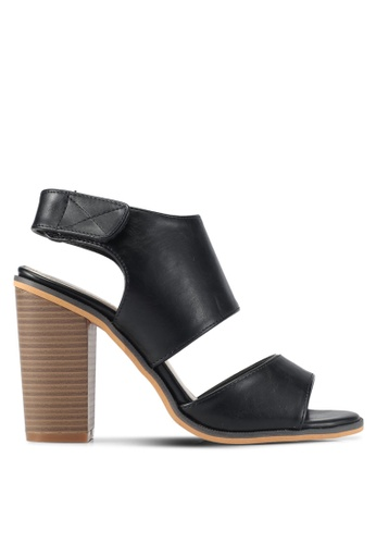 addicts anonymous black Anne Leather-Like Summer Heels AD479SH0SVKJMY_1