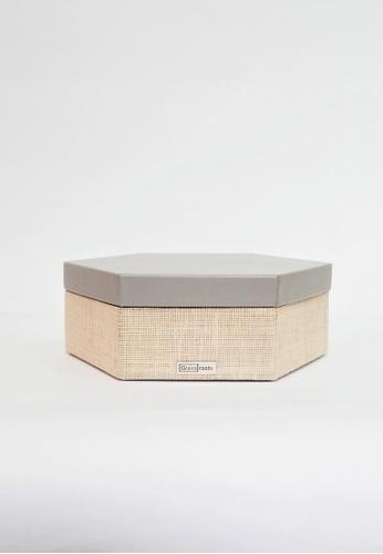 Grassroots grey Hexagonal Box (Small) B6FF7HLF09BEEEGS_1