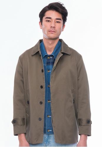 AlphaStyle brown Barke Cotton Car Coat 7E8F8AAB89287BGS_1