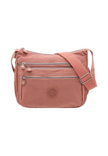 SanPrisco Original pink San Prisco Poloclub Carefree Sling Bag 36D6FAC8C43BD0GS_1