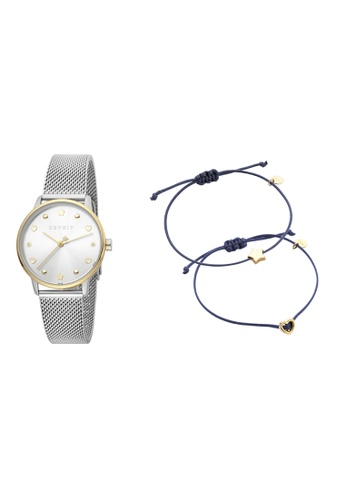 Esprit silver ESPRIT [Noel] 32mm Stainless Steel Mesh Band Women Watch [ES1L174M0095] 3376BAC5D941FAGS_1
