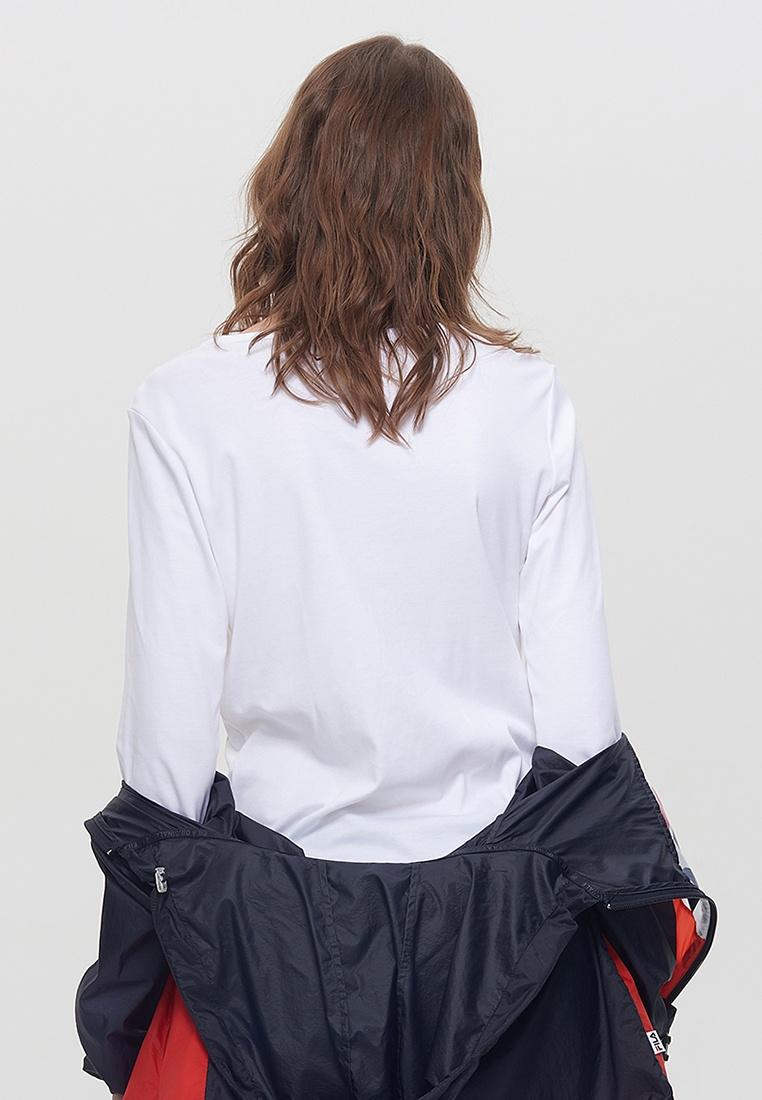 Logo Sleeve Shirt FILA White FILA Long T wqH60