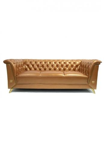 Choice Furniture orange Choice Furniture - Cameron Chesterfield Sofa (3 Seater) 25D44HL2A04902GS_1