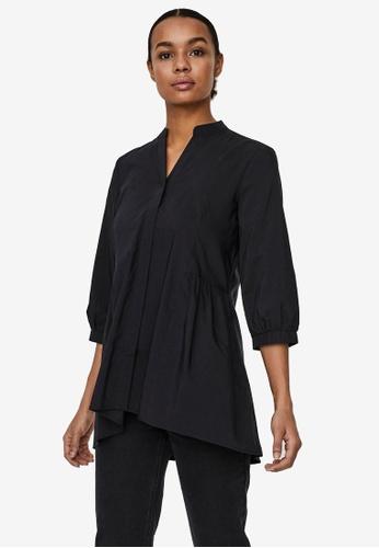 Vero Moda black Clara 3/4 Long Shirt 4139EAAAF5B25EGS_1