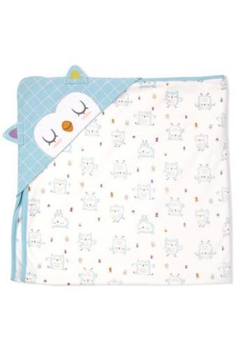 Organic mom blue Good Night Owl Swaddling Blanket FALL/WINTER) 1E64FKCDC4B616GS_1