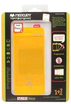 Mercury Case Anti-fingerprint Color Film iPhone 5 [Yellow]